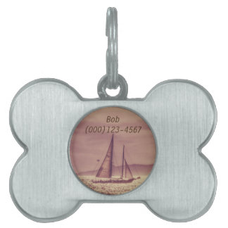 Sailing Across The Golden Sea Pet ID Tag