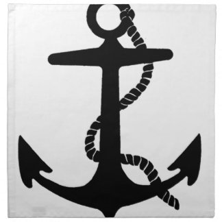 Sailing Anchor Sea Explorer Pirate Ship Napkin