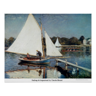 Sailing At Argenteuil by Claude Monet Print