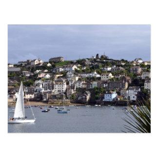 Sailing at Fowey Postcard
