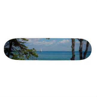 Sailing At Mackinac Skateboard Deck