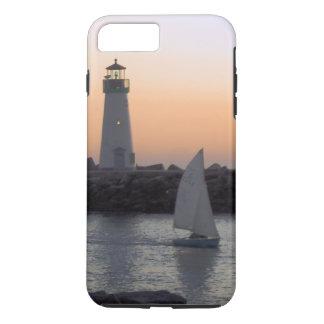 Sailing at Twilight at Santa Cruz Harbor iPhone 7 Plus Case