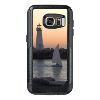 Sailing at Twilight at Santa Cruz Harbor OtterBox Samsung Galaxy S7 Case