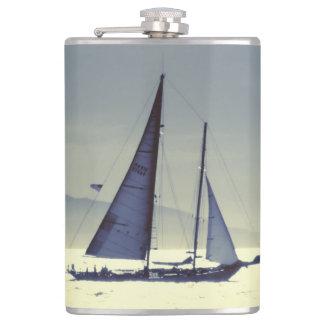 Sailing Away Hip Flask