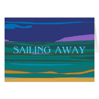 Sailing Away >Holidays Farewell  Card