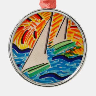 Sailing Away Metal Ornament