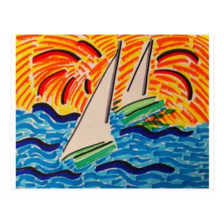 Sailing Away Postcard