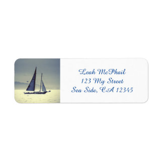 Sailing Away Return Address Label