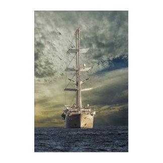 Sailing battleship acrylic wall art