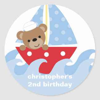 Sailing Bear Stickers