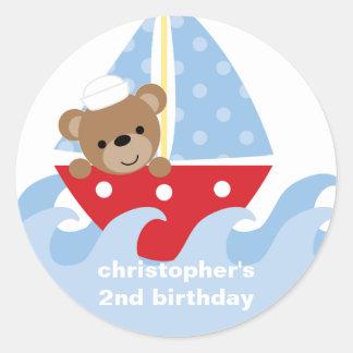 Sailing Bear Stickers
