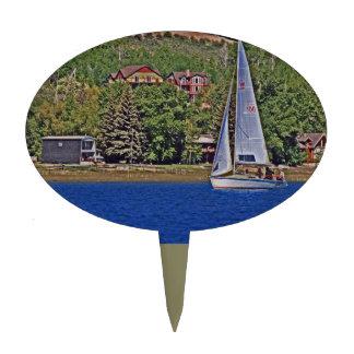 Sailing big blue cake picks