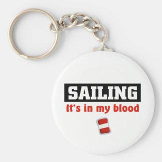 Sailing Blood Basic Round Button Key Ring