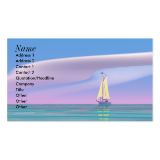 Sailing Blue - Business Size Business Card Templates
