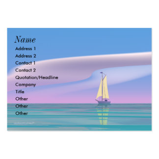 Sailing Blue - Chubby Business Card Template