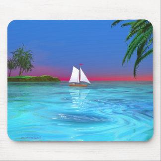 Sailing Blue Mouse Pad