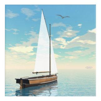 Sailing boat - 3D render Acrylic Print