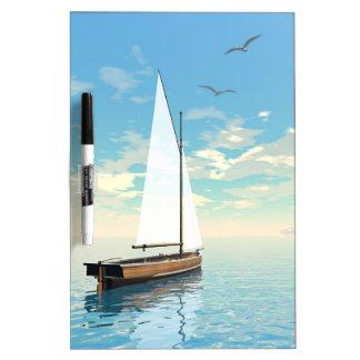 Sailing boat - 3D render Dry Erase Board