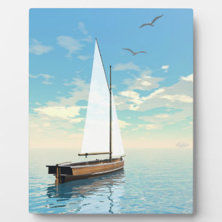 Sailing boat - 3D render Plaque