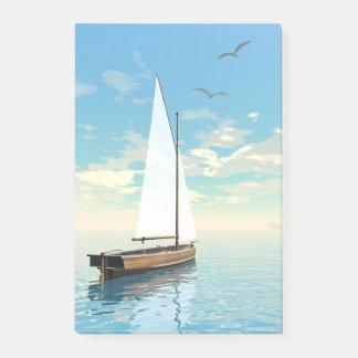 Sailing boat - 3D render Post-it Notes