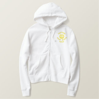 Sailing boat captains embroidered hoodie