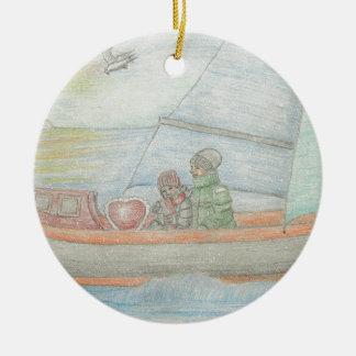 Sailing boat ornaments