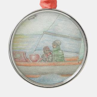 Sailing boat christmas ornaments