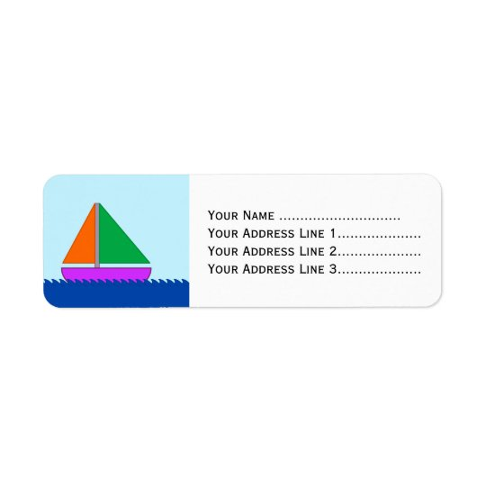 Sailing Boat on the Water Return Address Label