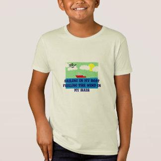 SAILING BOAT ORGANIC KIDS TEE-SHIRT T SHIRTS