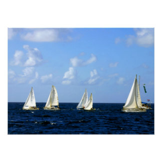 "Sailing Boat Regatta 14"" x 11"" Value Poster"