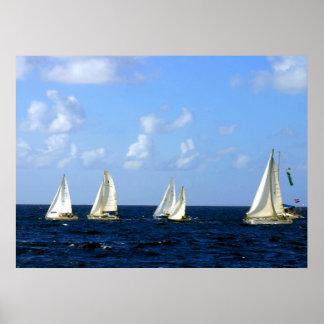 Sailing Boat Regatta 14 x 11 Value Poster
