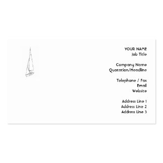 Sailing boat. Sketch in Black and White. Pack Of Standard Business Cards