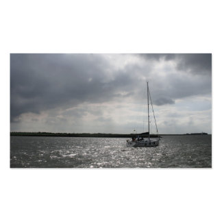Sailing Boat Storm Sky Small Photo Card Business Card