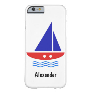 Sailing boat with your name barely there iPhone 6 case