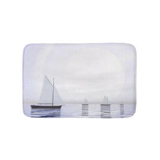 Sailing boats - 3D render Bath Mat