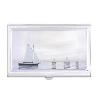 Sailing boats - 3D render Business Card Holder