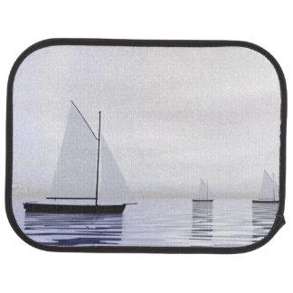 Sailing boats - 3D render Car Mat