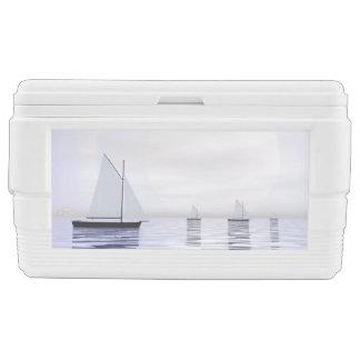 Sailing boats - 3D render Cooler