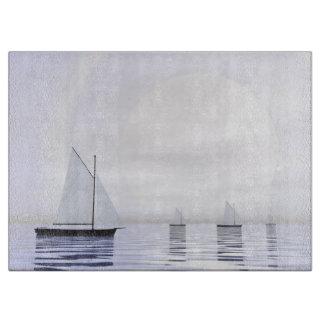 Sailing boats - 3D render Cutting Board