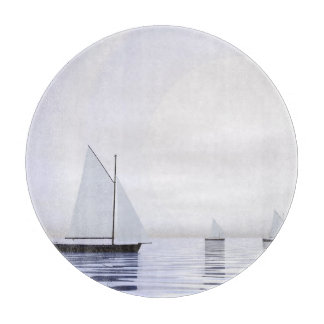 Sailing boats - 3D render Cutting Board