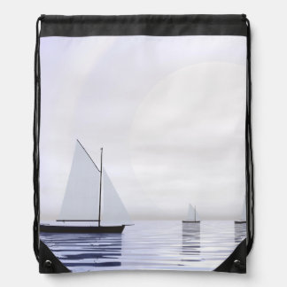 Sailing boats - 3D render Drawstring Bag