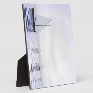 Sailing boats - 3D render Photo Plaque