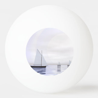 Sailing boats - 3D render Ping Pong Ball