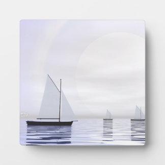 Sailing boats - 3D render Plaque
