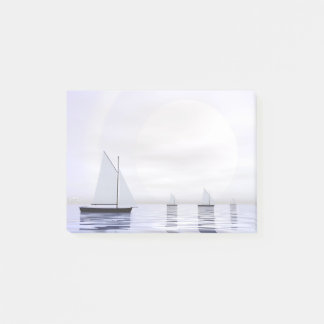 Sailing boats - 3D render Post-it Notes