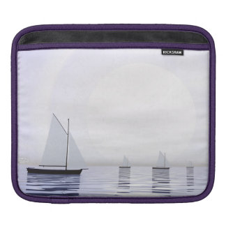 Sailing boats - 3D render Sleeve For iPads