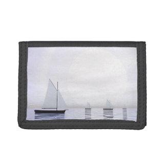 Sailing boats - 3D render Tri-fold Wallet