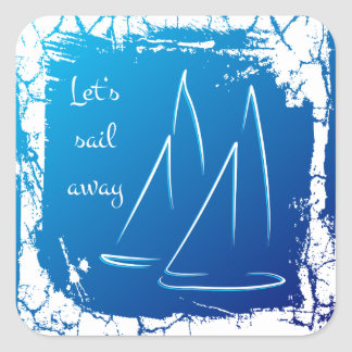 sailing boats - let s sail away Sticker