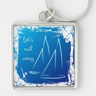 sailing boats - let's sail away key ring