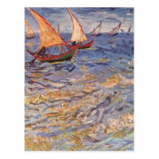 Sailing Boats - Vincent Van Gogh Postcard